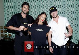 Maksim Chmerkovskiy, Sharna Burgess and Val Chmerkovskiy - Backstage at Ballroom with a Twist at the NYCB Theatre at Westbury....