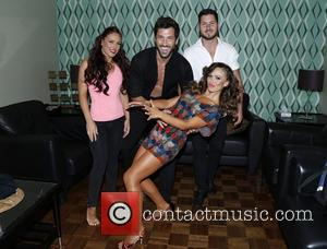 Sharna Burgess, Maksim Chmerkovskiy, Val Chmerkovskiy and Karina Smirnoff - Backstage at Ballroom with a Twist at the NYCB Theatre...