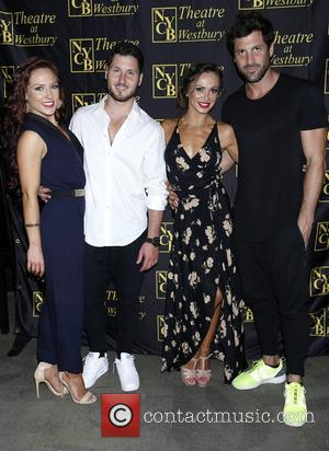 Sharna Burgess, Val Chmerkovskiy, Karina Smirnoff and Maksim Chmerkovskiy - Ballroom with a Twist post show meet and greet at...