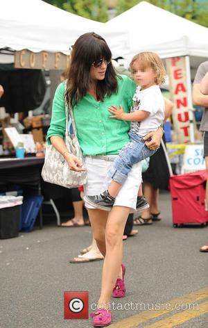 Selma Blair and Arthur Saint Bleick - Selma Blair and her son Arthur at the farmers market in Los Angeles...