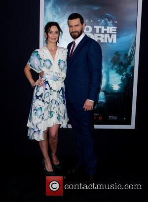 Sarah Wayne Callies and Richard Armitage - World premiere of 'Into The Storm' at AMC Lincoln Square Theater - Red...
