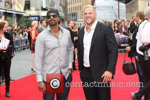 David Haye and James Haskell - 'The Expendables 3' world film premiere held at the Odeon cinema - Arrivals -...