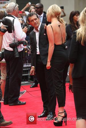 Laura Whitmore and Antonio Banderas - The Expendables 3 - World film premiere held at the Odeon cinema - Arrivals...