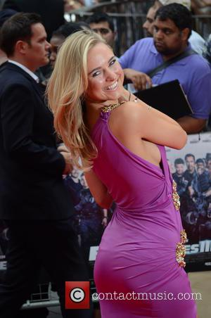 Kimberley Garner - The Expendables 3 - UK film premiere held at the Odeon cinema - Arrivals - London, United...