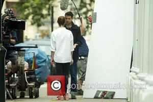 Gemma Arterton and Tom Cullen - Filming of 'A Hundred Streets' in London - London, United Kingdom - Tuesday 5th...