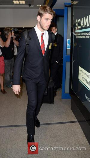 David De Gea - Manchester United Players arrive at Manchester Airport while a boax hoax drama was unfolding. - Manchester,...