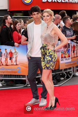 Ashley James and Matt Richardson - The Inbetweeners 2 World premiere held at the Vue cinema - Arrivals - London,...
