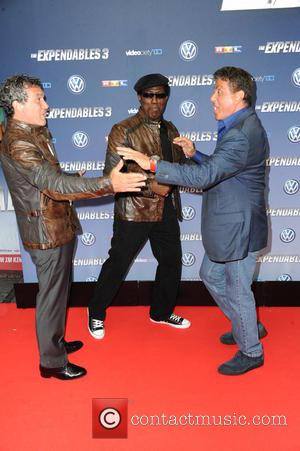 Antonio Banderas, Wesley Snipes and Sylvester Stallone - German premiere of 'The Expendables 3' at Residenz movie theatre. - Cologne,...