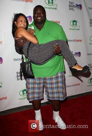 Quinton Aaron and Dianne Quirante - 'The Imagine Ball' benefiting Imagine LA held at The House of Blues - Arrivals...