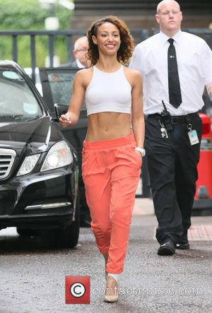 Amelle Berrabah Injured Ankle Celebrating Tough Gym Move