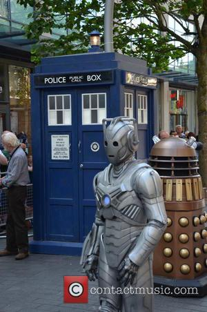 Cyberman, Dalek and Tardis - Doctor Who World Tour - Red carpet event at St David's Hall in Cardiff, Wales...
