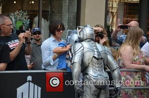 Cyberman and Kid In Cyberman Mask - Doctor Who World Tour - Red carpet event at St David's Hall in...