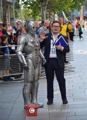 Cyberman and Steward - Doctor Who World Tour - Red carpet event at St David's Hall in Cardiff, Wales -...