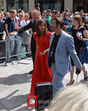 Jenna Coleman and Edward Russell (Future UK Eurovision Hopeful) - Doctor Who World Tour - Red carpet event at St...