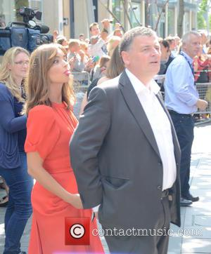 Jenna Coleman and Steven Moffat - Doctor Who World Tour - Red carpet event at St David's Hall in Cardiff,...