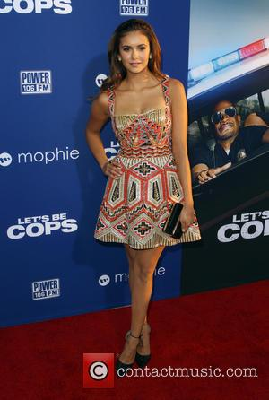Nina Dobrev - 'Let's Be Cops' Los Angeles premiere - Arrivals - Hollywood, California, United States - Friday 8th August...