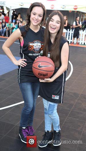 Hayley Orrantia and Landry Bender - 3rd Annual Josh Hutcherson Celebrity Basketball Game at Nokia Plaza L.A. LIVE - Los...