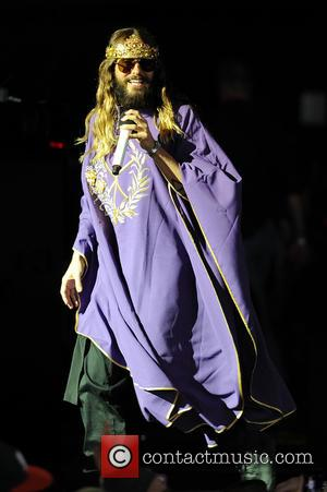 Jared Leto - 30 Seconds to Mars perform live in concert - West Palm Beach, Florida, United States - Friday...