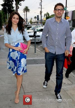 Emmy Rossum , Sam Esmail - Emmy Rossum arrives at Craig's restaurant with boyfriend Sam Esmail - Los Angeles, California,...