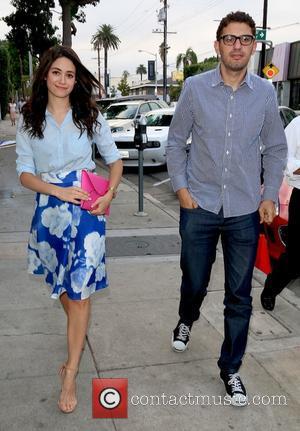 Emmy Rossum , Sam Esmail - Emmy Rossum arrives at Craig's restaurant with boyfriend Sam Esmail - Los Angeles, California,...