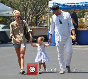 Ruby Stewart and Delilah del Toro - Kimberly Stewart takes daughter Delilah to a Beverly Hills Farmer's Market to buy...