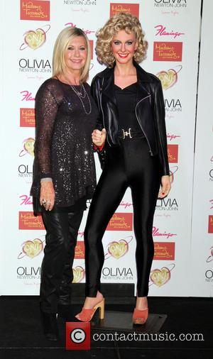 Olivia Newton-John and Wax Figure - Olivia Newton-John wax figure unveiling at Madame Tussauds Las Vegas - Las Vegas, Nevada,...