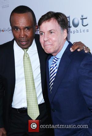 Sugar Ray Leonard and Bob Costas