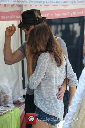 Ian Somerhalder and Nikki Reed - Ian Somerhalder and girlfriend Nikki Reed shopping at Studio City Farmers Market - Los...