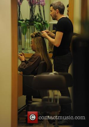 Lauren Goodger - Lauren Goodger star of the UK reality show TOWIE gets her hair done at the multi award...