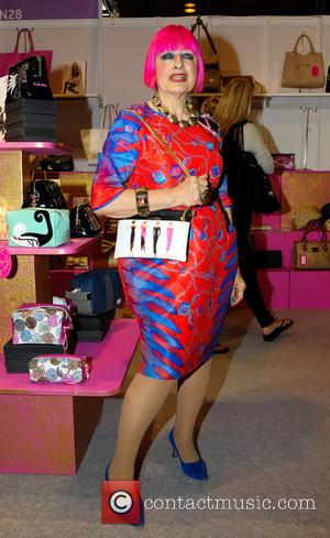 Zandra Rhodes - Some of the UK's top fashion designers and models were on show at the fashion event MODA...