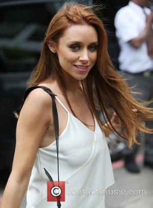 Una Healy and Una Foden - The Saturdays outside the ITV Studios on a sunny day in Waterloo, Central London,...