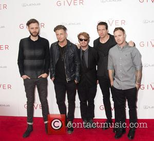 One Republic - Stars attend the New York Premiere of the upcoming social science fiction movie 'The Giver' starring the...