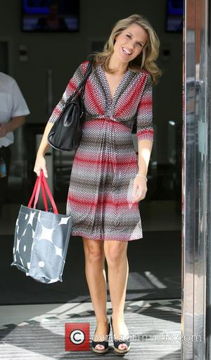 Charlotte Hawkins - Presenter and Co-host of ITV's Good Morning Britain Charlotte Hawkins leaves the ITV studios wearing a red,...