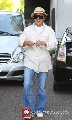 Jackie Chan - Actor and stunt performer Jackie Chan outside ITV Studios after an appearance on Good Morning Britain to...