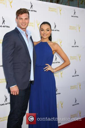 Derek Theler and Christina Ochoa - Dynamic & Diverse:  A 66th Emmy Awards Celebration of Diversity Event at Television...