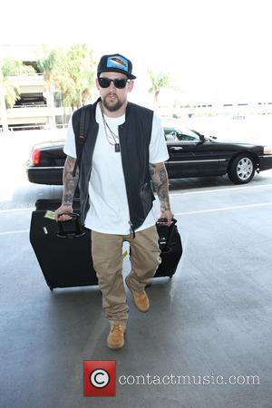 Joel Madden - Front man of American rock band Good Charlotte and coach on The Voice Australia Joel Madden arrives...