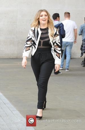 Ella Henderson - Former X-Factor Finalist and singer songwriter Ella Henderson seen leaving the BBC Radio 1 studios wearing a...
