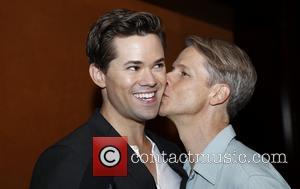 Andrew Rannells and John Cameron Mitchell - Media day for Andrew Rannells 'Hedwig and the Angry Inch' held at the...