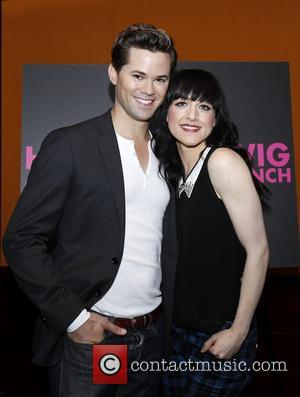 Andrew Rannells and Lena Hall - Media day for Andrew Rannells 'Hedwig and the Angry Inch' held at the Lamb's...