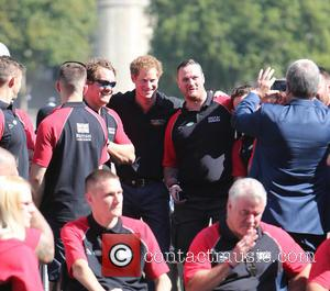 Prince Harry - Prince Harry introduces the British Armed Forces team to the Invictus games - London, United Kingdom -...