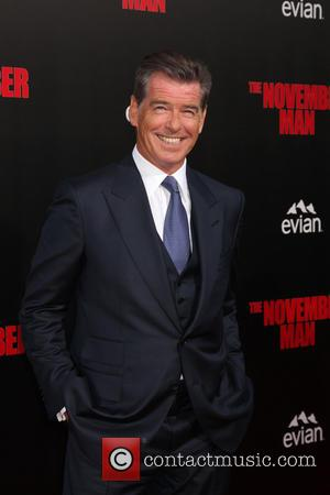 Pierce Brosnan - Los Angeles Premiere of 'The November Man' at TCL Chinese Theatre - Arrivals - Los Angeles, California,...