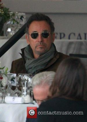 Bruce Springsteen - Bruce Springsteen and his wife, Patti Scialfa, watch their daughter Jessica compete in the Longines Global Champions...