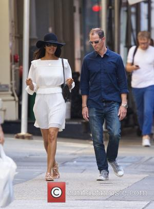 Padma Lakshmi - Padma Lakshmi walking in Soho with a male companion - New York City, New York, United States...
