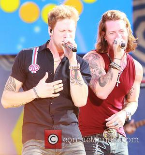 Brian Kelley and Tyler Hubbard from Florida Georgie Line - Florida Georgia Line performs live on the 'Good Morning America'...