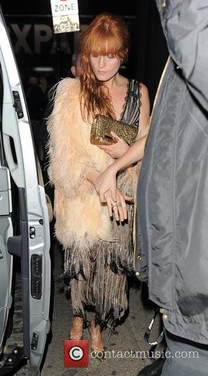 Florence Welch - Nick Grimshaw celebrates his birthday with friends at Shoreditch House - London, United Kingdom - Friday 15th...