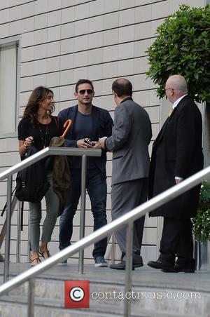 Frank Lampard and Christine Bleakley - Frank Lampard and Christine Bleakley arriving at their Manchester Hotel - Manchester, United Kingdom...