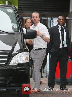 Simon Pegg - Simon Pegg outside ITV Studios - London, United Kingdom - Friday 15th August 2014