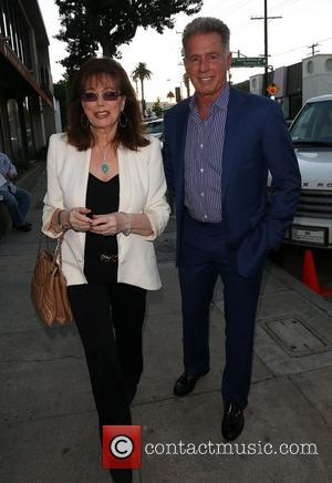 Jackie Collins and Jack Scalia - Celebrities visit Craig's restaurant in West Hollywood - Los Angeles, California, United States -...
