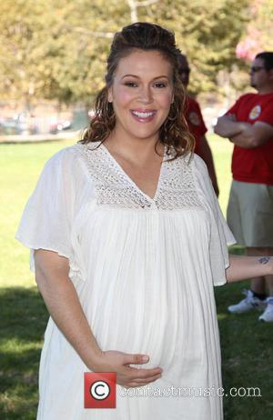 Alyssa Milano Shares First Photo Of Newborn Baby Daughter With Son, Milo