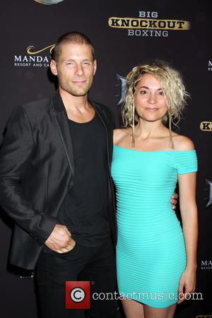 Matt Lauria and Michelle Armstrong - Celebrities arrive on the Big Knockout Boxing red carpet at the Mandalay Bay Events...